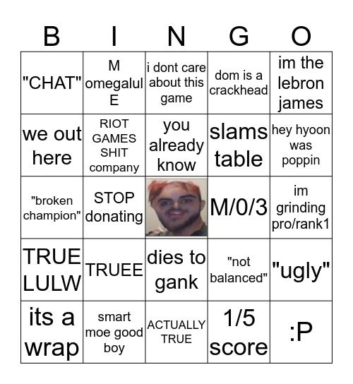YASSUO STREAM Bingo Card