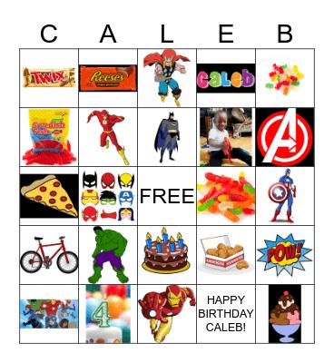 CALEB'S BINGO Card