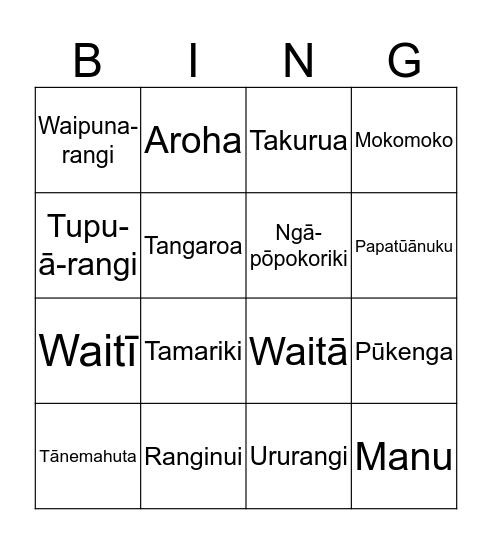 Matariki Bingo Card