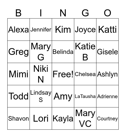 Bingo Bingo Lindsay