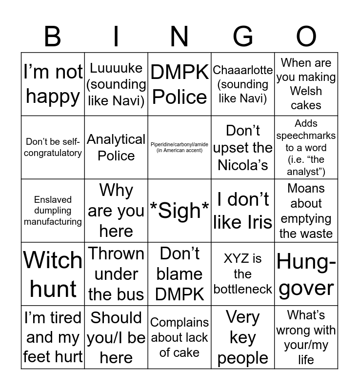 Will Bingo Card