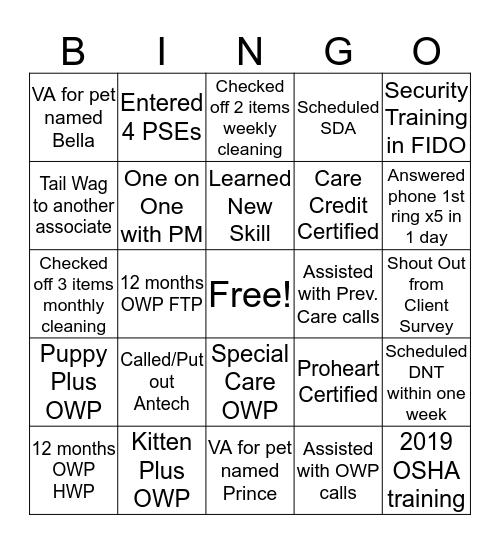 Banfield Bingo Card