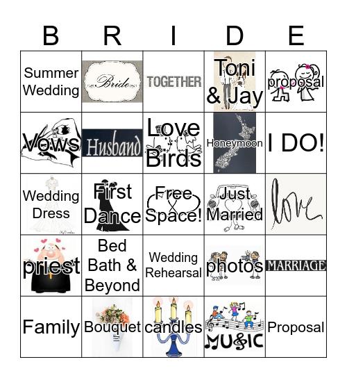 Wendy's Wedding Bingo Card