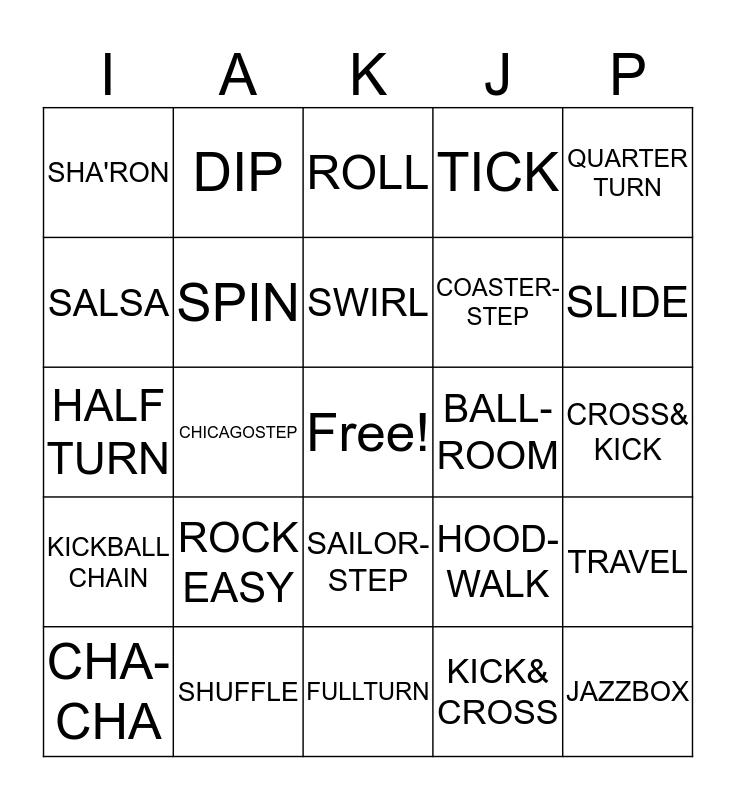 BINGO WITH IAKJP Bingo Card