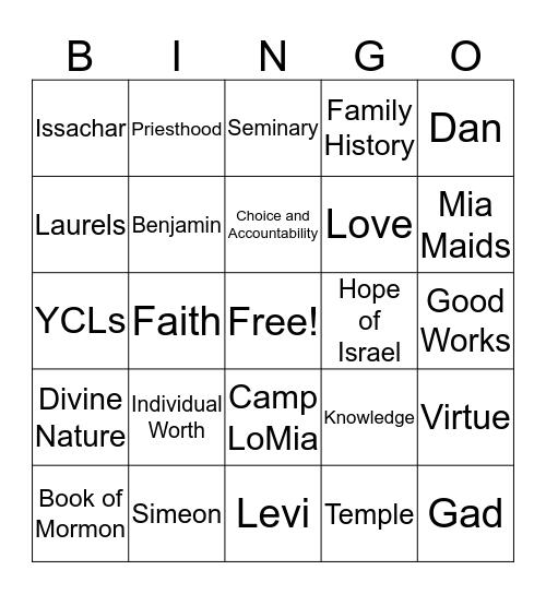 CAMP BINGO 2019 Bingo Card