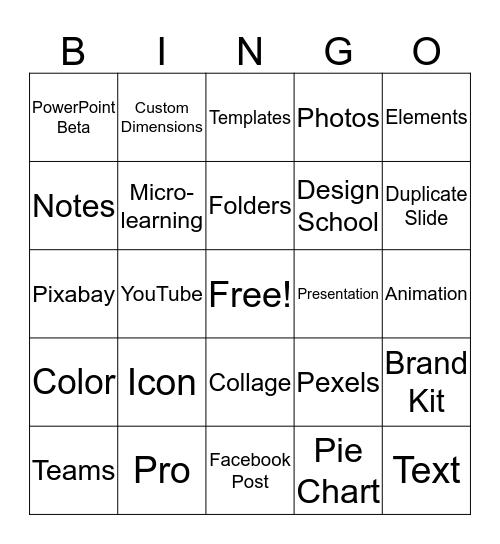 Canva Bingo Card