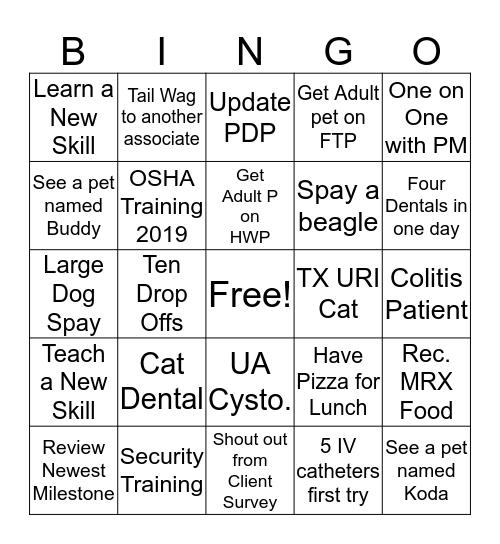 Doctor Bingo Card