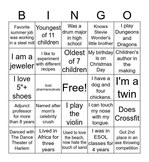 CSC Scramble 1 Bingo Card
