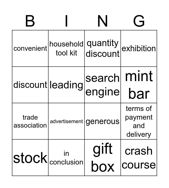 Business Milestones Unit 9 Enquiries Bingo Card