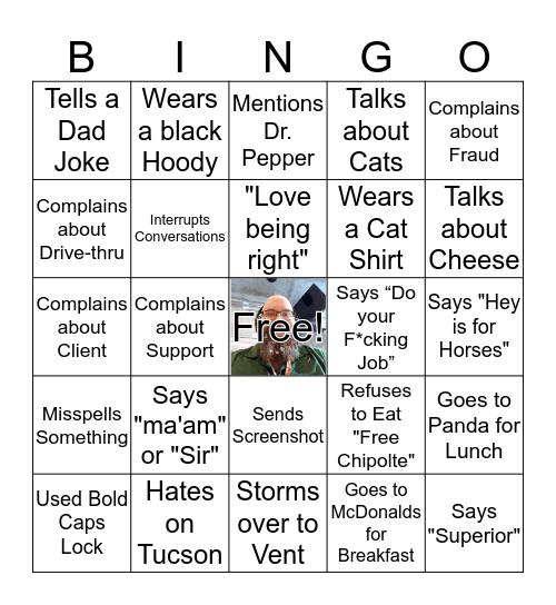 Matt Lattimore Bingo Game Bingo Card