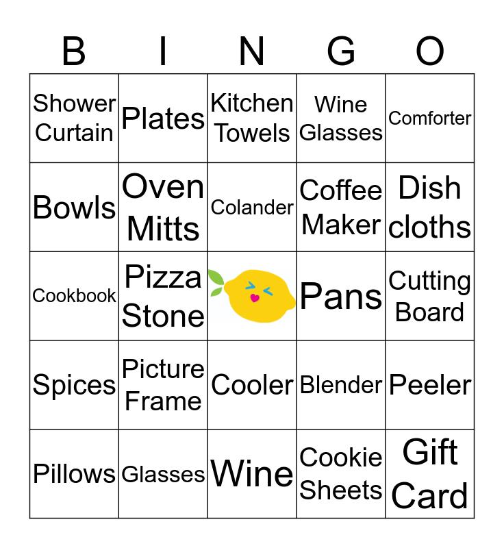 Pucker Up - Jenny's Bridal Shower Bingo Card