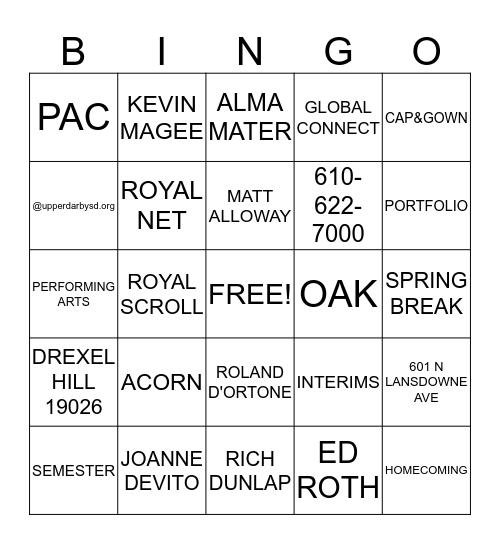 ROYAL Bingo Card