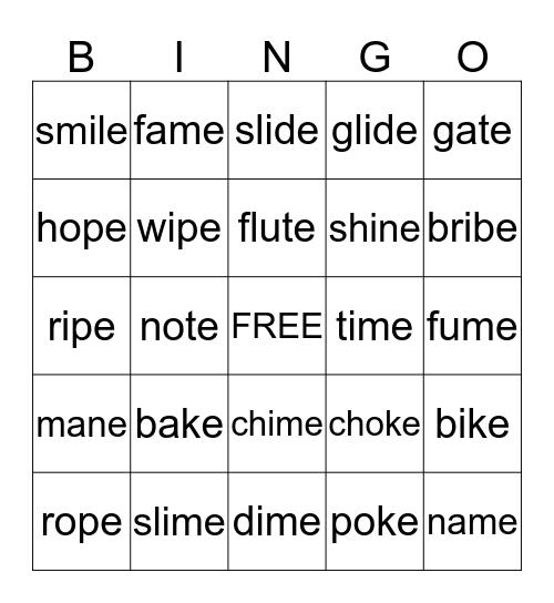 Sneaky e Bingo Card