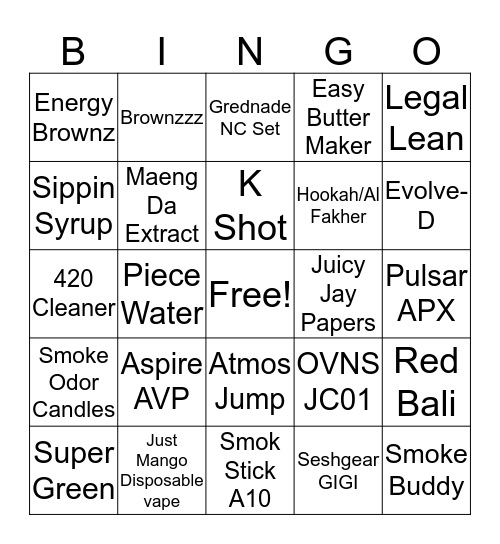 Rise Bingo Card