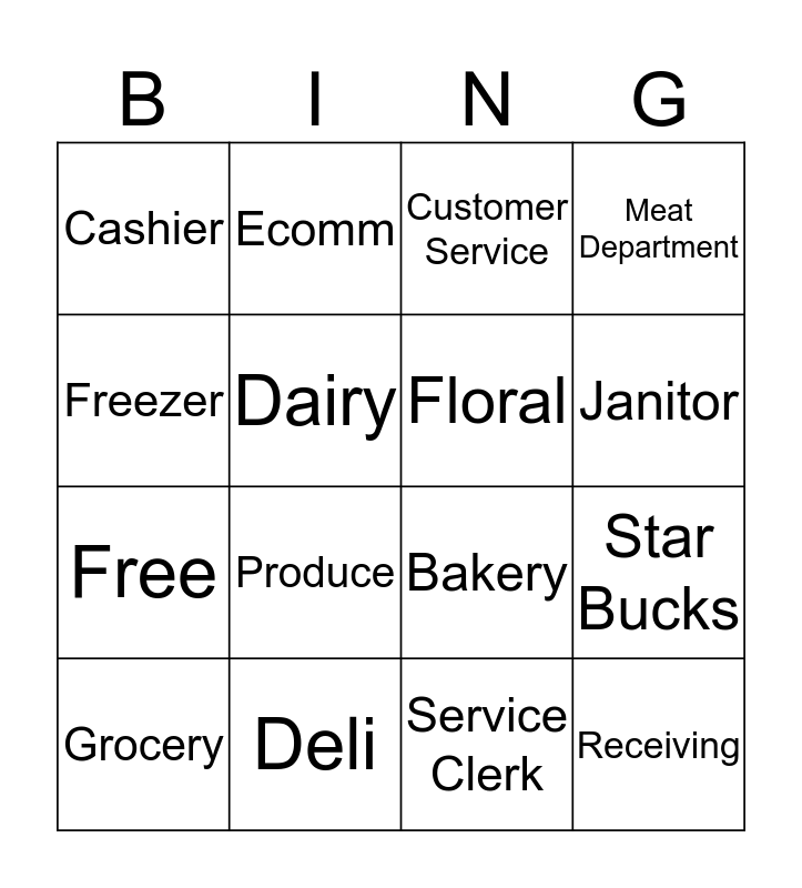 Save on Foods Bingo Card