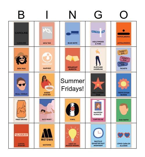 Capitol Chill Bingo Card