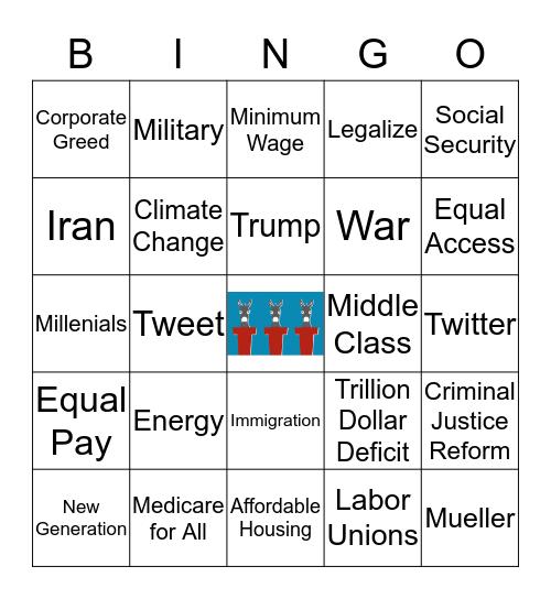 Casey's 2020 Democratic Debate Bingo Card