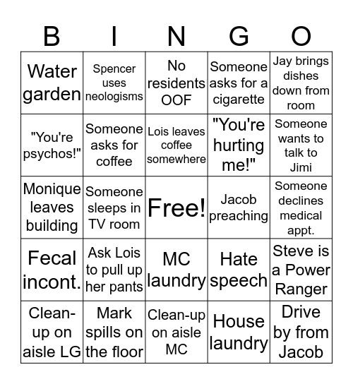 Arbor Place Bingo Card