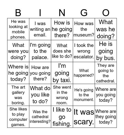 Midterm Bingo Card
