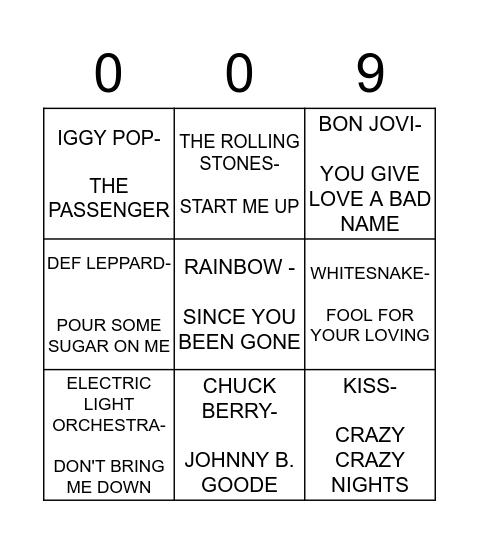 ROCK Bingo Card