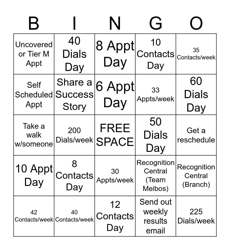 Campaign Bingo Card