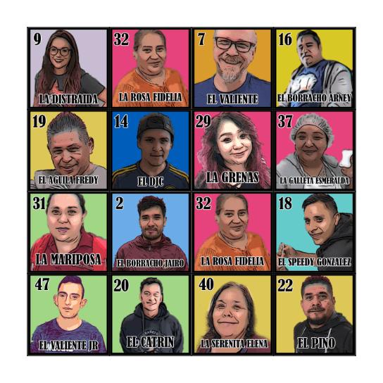 AP SPECIALTIES LOTERIA Bingo Card