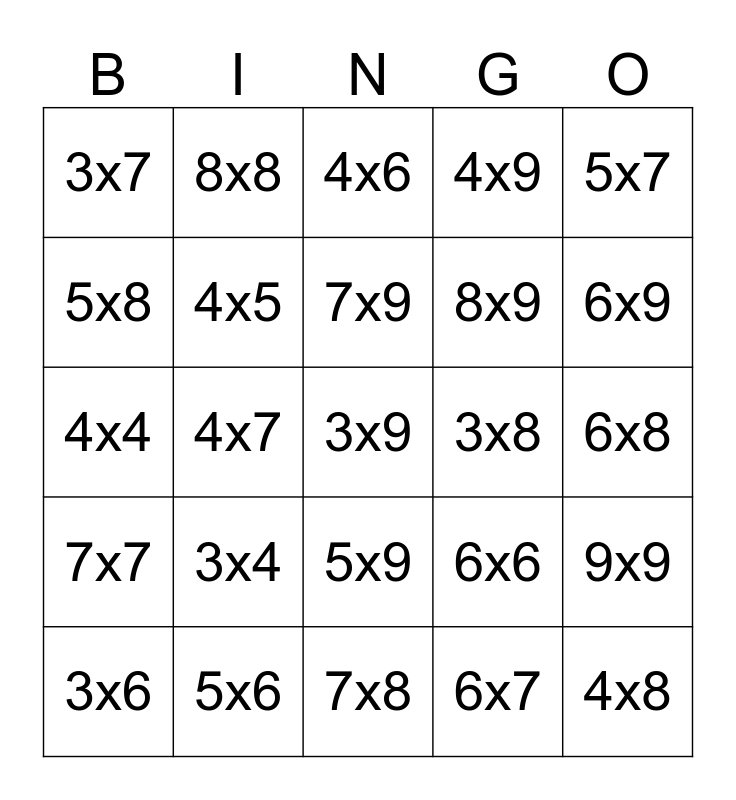 Facts To Know Bingo Card