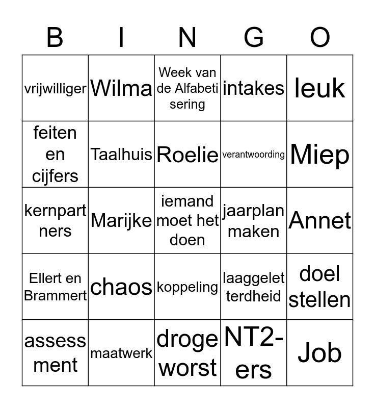 Taalbingo 9-9-2019 Bingo Card