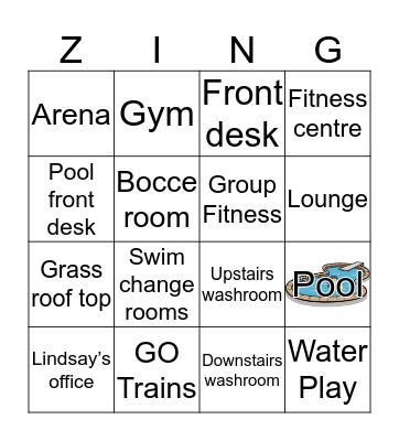 Centennial ZING ! Bingo Card