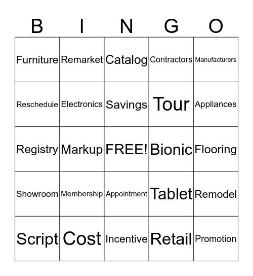 DIRECTBUY Bingo Card