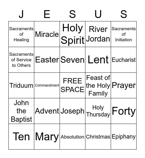 Religious Bingo Card