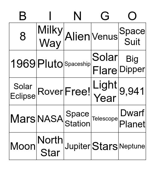 Space Bingo: A Universe of Stories Bingo Card