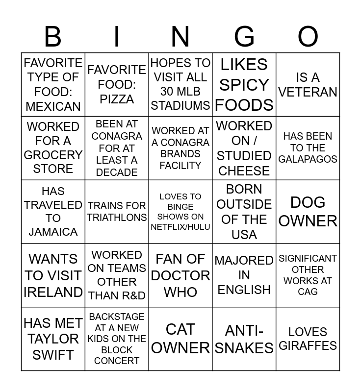 There is no place like the Readiness COE Bingo Card