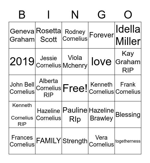 CORNELIUS & BEATTY Bingo Card