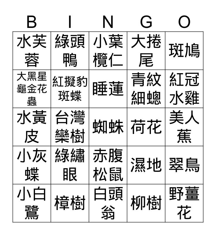 美術館健走,一起玩賓果 Bingo Card
