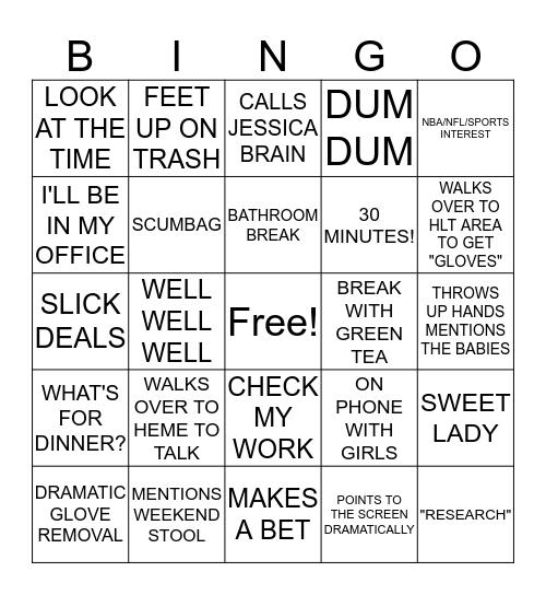 7/16/19 Bingo Card