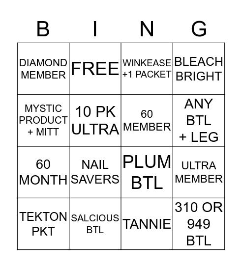 B-TAN BINGO Card
