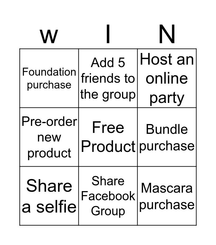 Win Free Makeup Bingo Card