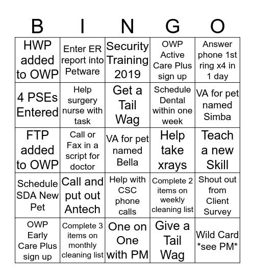 VA Bingo Card