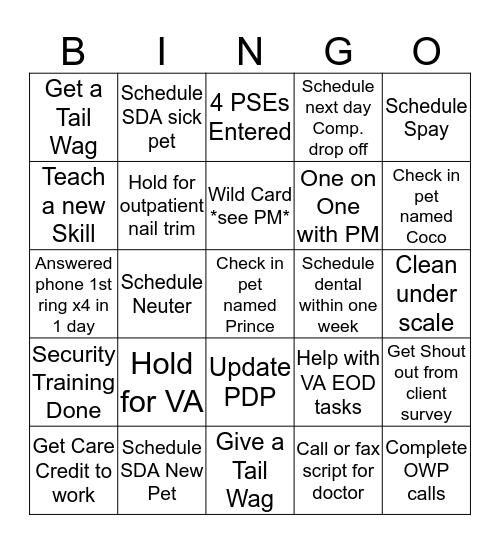 CSC Bingo Card