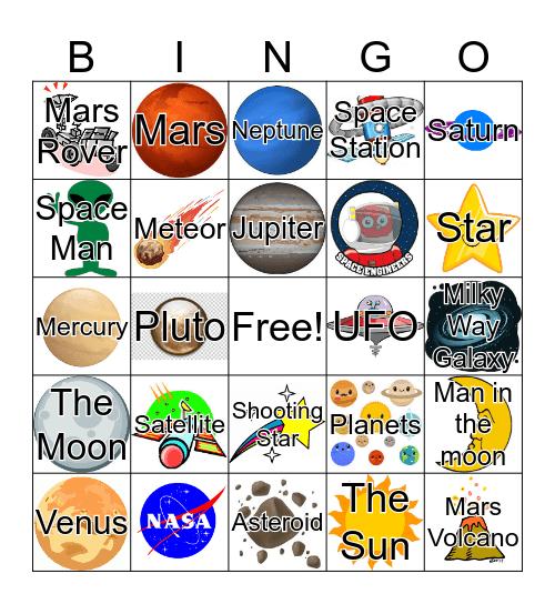 Space Race Bingo Card