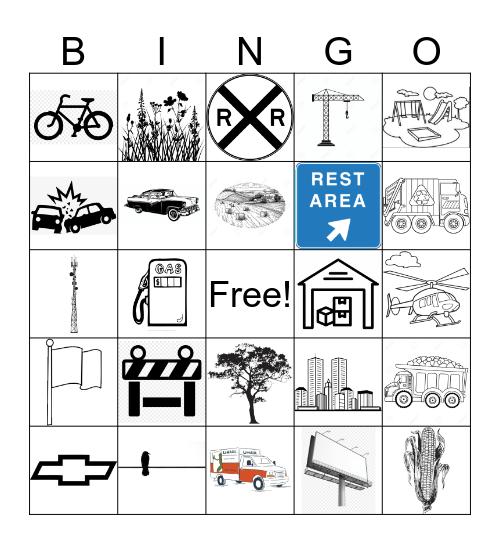 Car Bingo Card