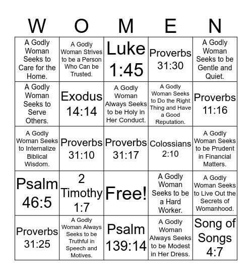 WOMEN Bingo Card