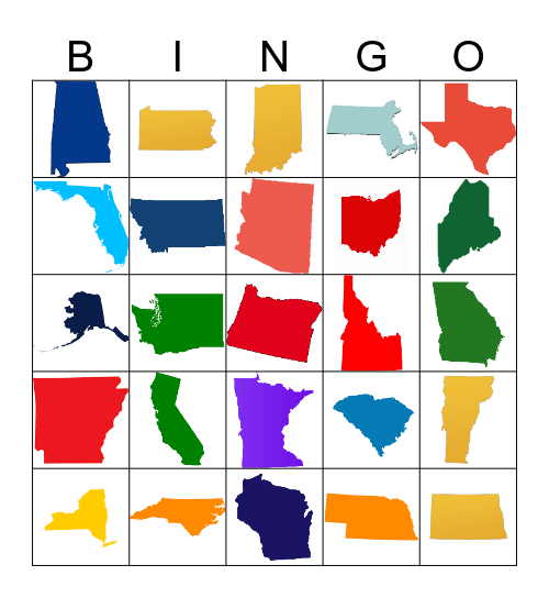 United States Bingo Card