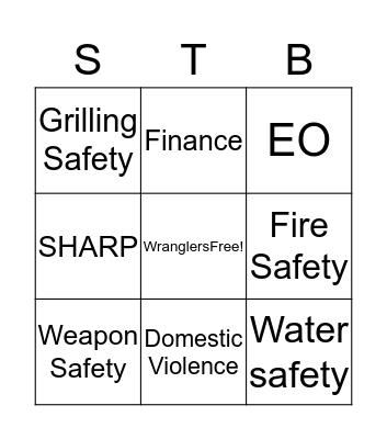 Wranglers Bingo Card