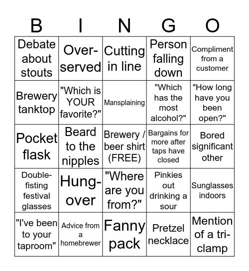 Festival Bingo Card