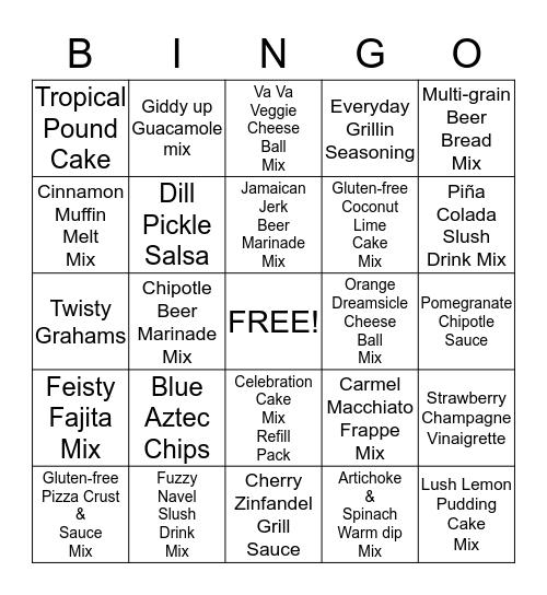 Tastefully Bingo Card