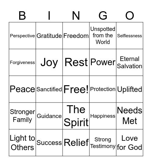 Blessing Bingo Card