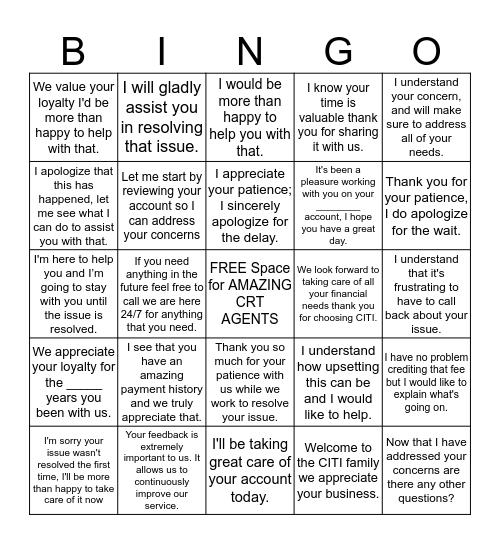 Best Bingo EVER Bingo Card