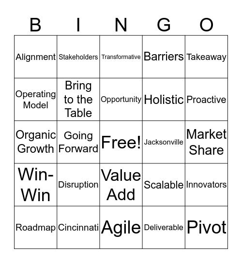 FIS Worldpay Bingo Card